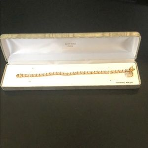 Brand New Gold and Diamond Accent Bracelet